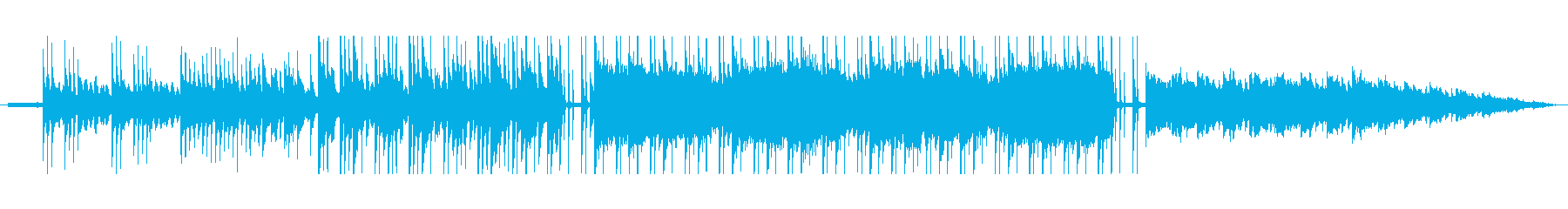 眠たげで優しいチルサウンドbgmの再生済みの波形