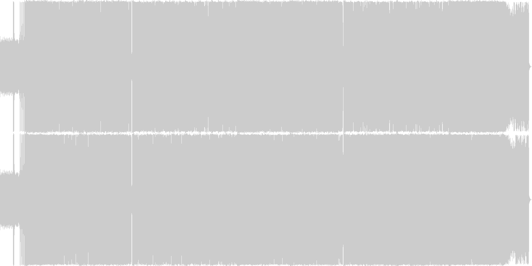 激しいシャウトのスラッシュメタルの未再生の波形