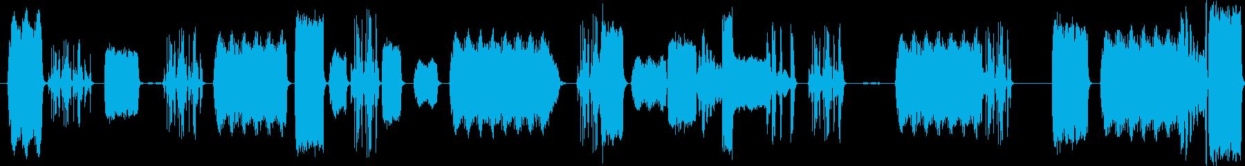 チャープマシンガンメカニカルコンピ...の再生済みの波形