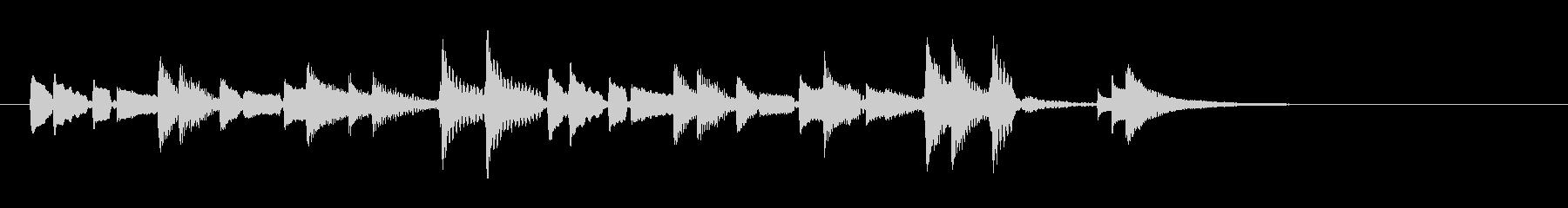ウクレレハワイアンフレーズ3の未再生の波形