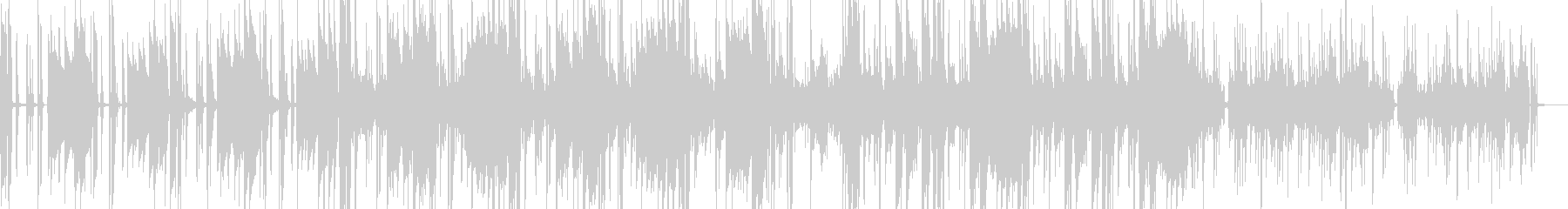 メロウな雰囲気のスローファンクの未再生の波形