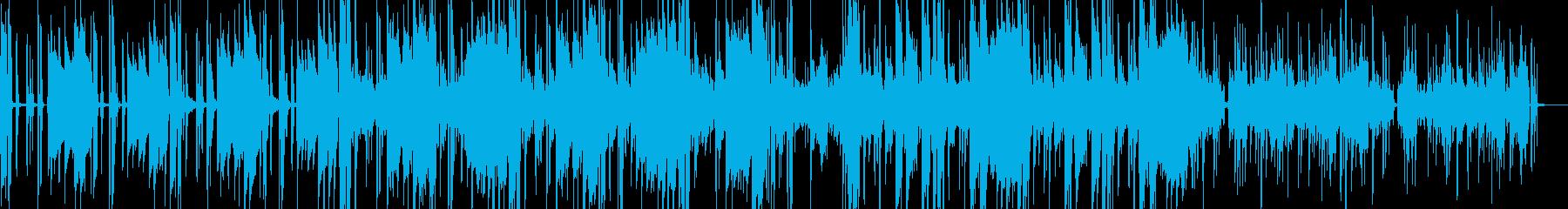 メロウな雰囲気のスローファンクの再生済みの波形