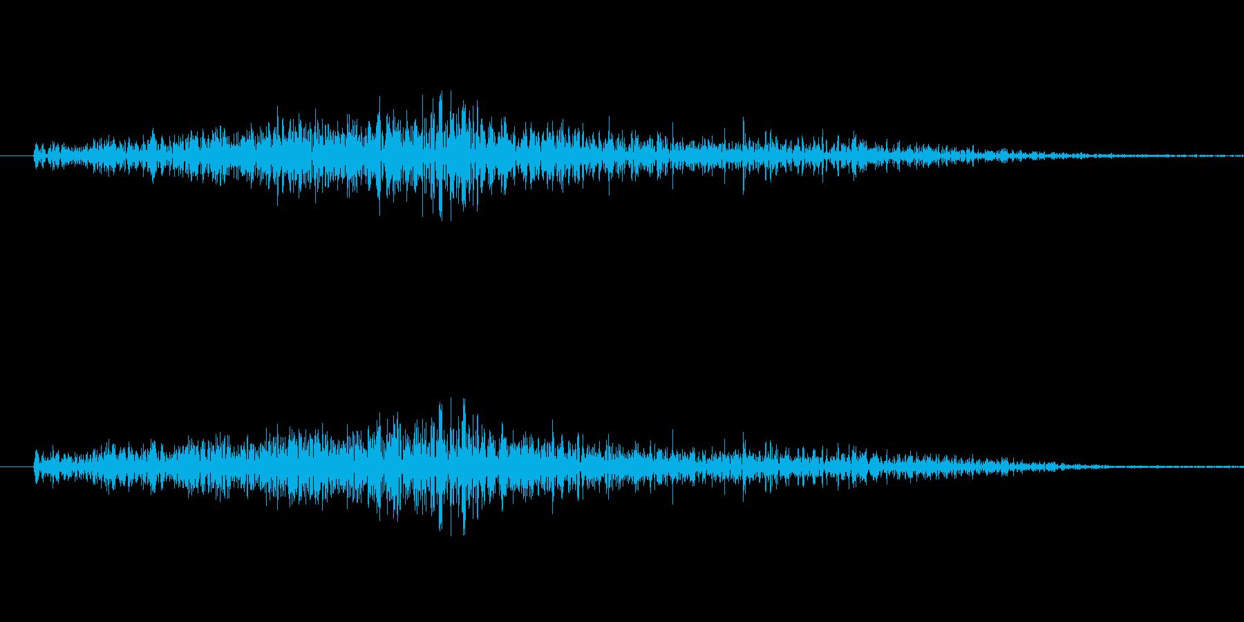 男性のくしゃみの再生済みの波形