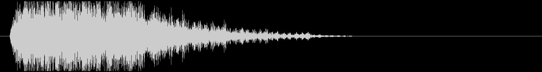 ダークな移動音の未再生の波形