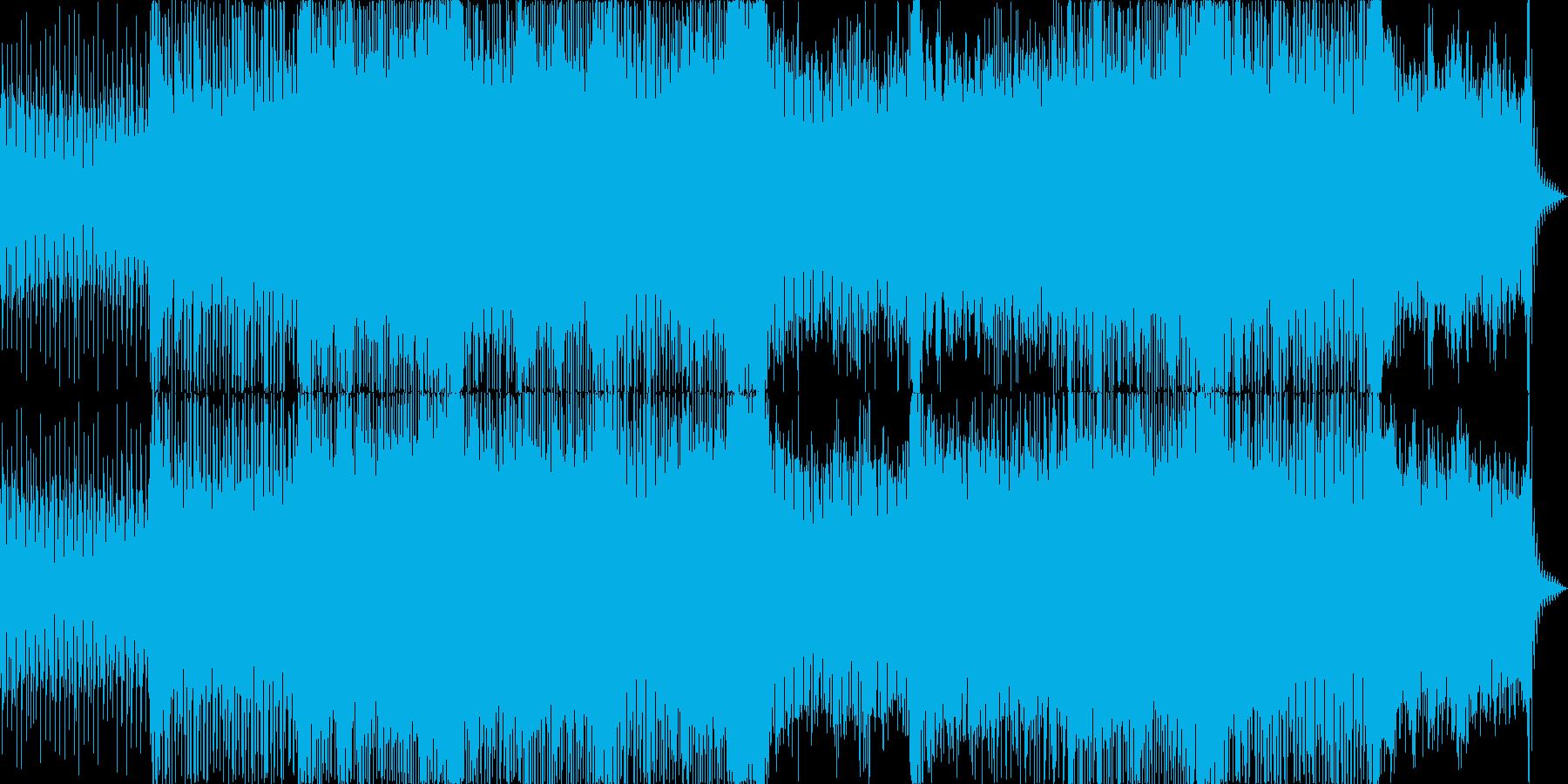 宇宙空間な雰囲気を出したドラムンベースの再生済みの波形