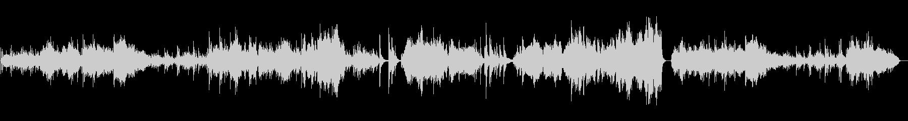 伝統的な日本風の楽曲の未再生の波形