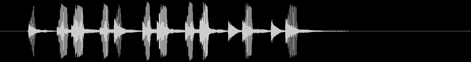 パパパッパパッパパ(電子ラッパ音)の未再生の波形