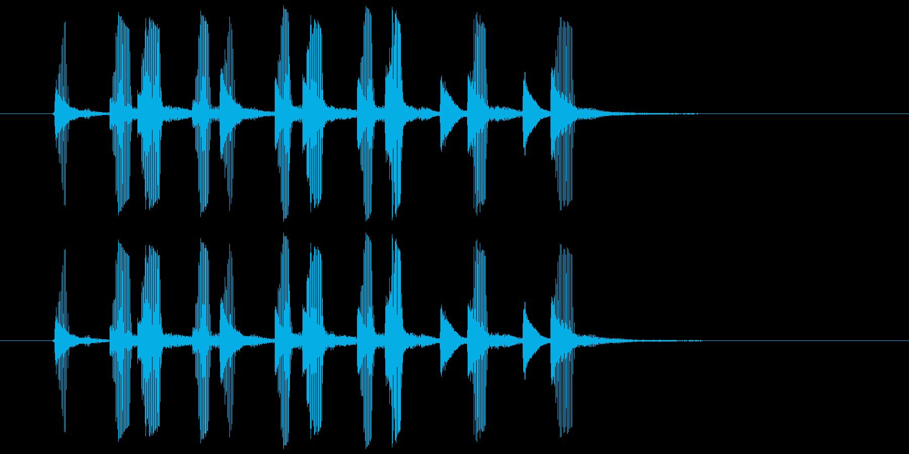 パパパッパパッパパ(電子ラッパ音)の再生済みの波形