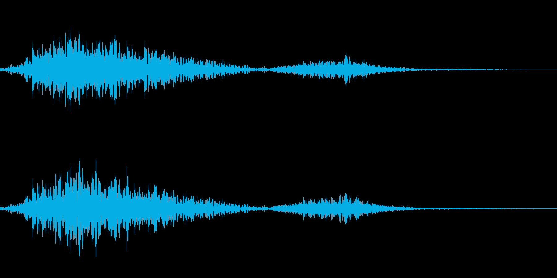 斬撃音(刀や剣で斬る/刺す効果音)13bの再生済みの波形