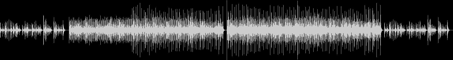 弦楽器と打楽器のどっしりとしたBGMの未再生の波形