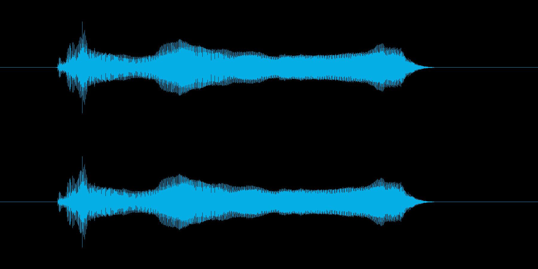 えーいっ!の再生済みの波形