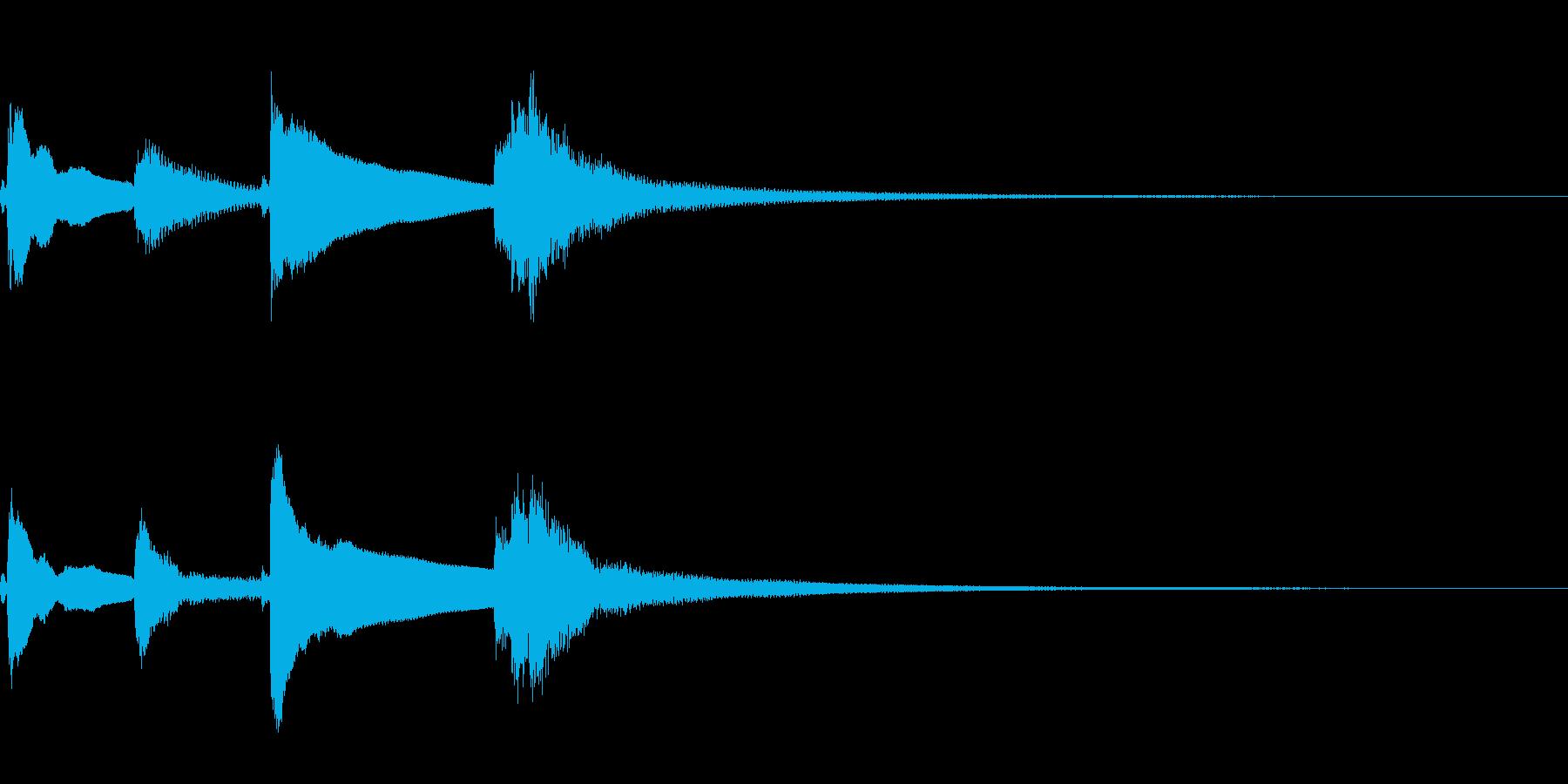琴のワンショットフレーズ(場面転換等に)の再生済みの波形