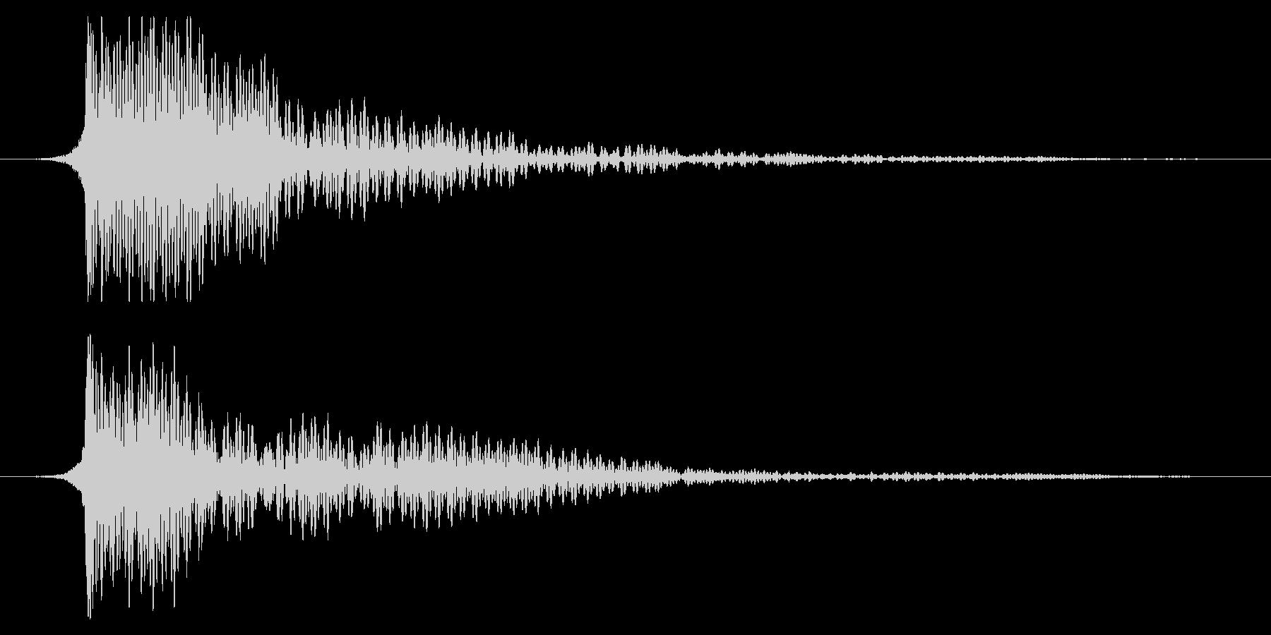 ホラー系アタック音124の未再生の波形