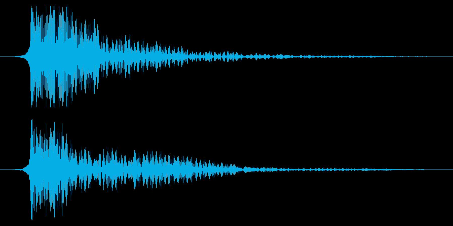ホラー系アタック音124の再生済みの波形