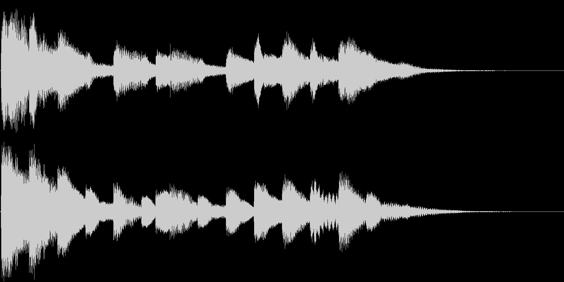 しっとり切ないピアノソロジングルの未再生の波形