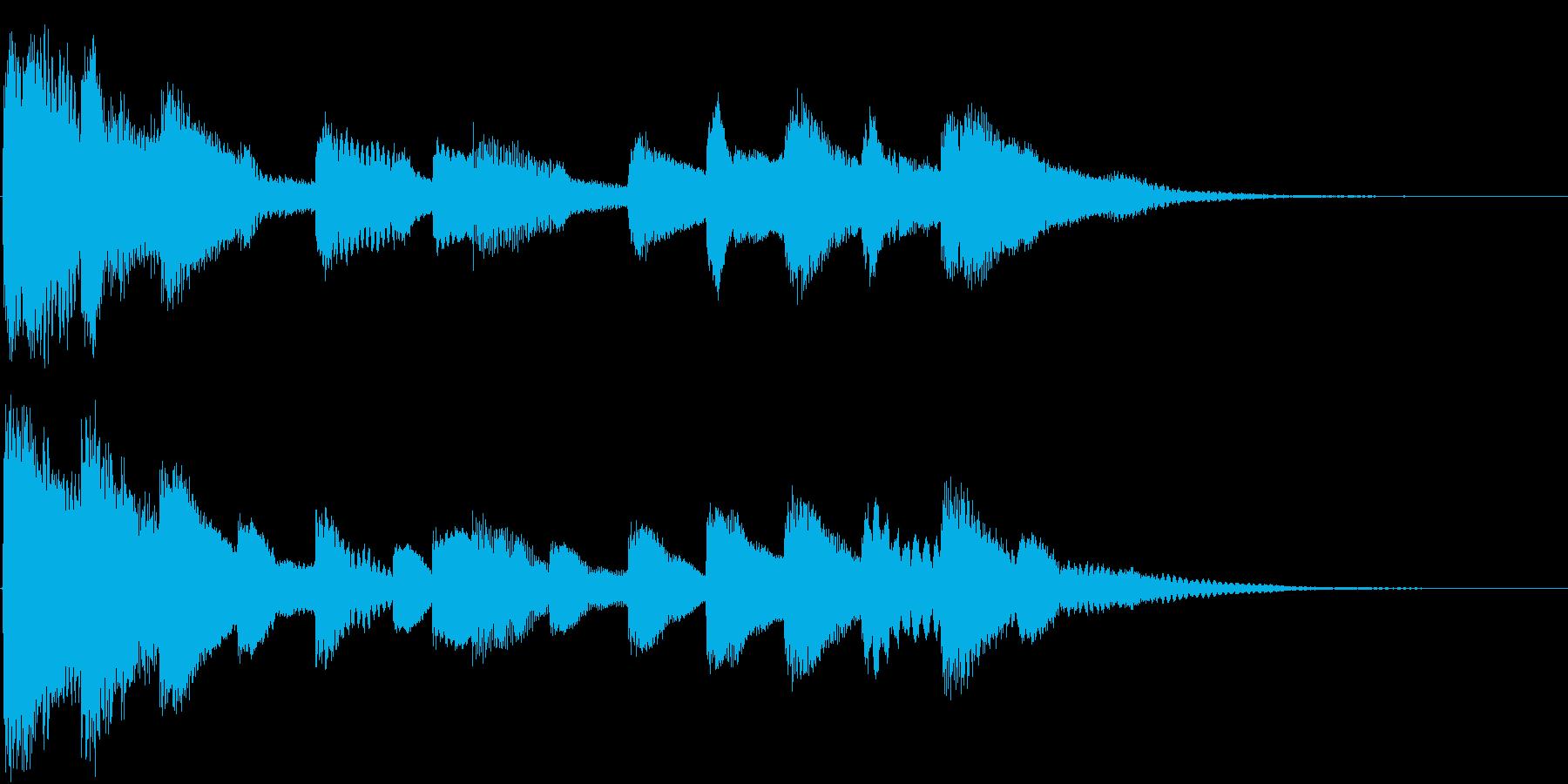しっとり切ないピアノソロジングルの再生済みの波形