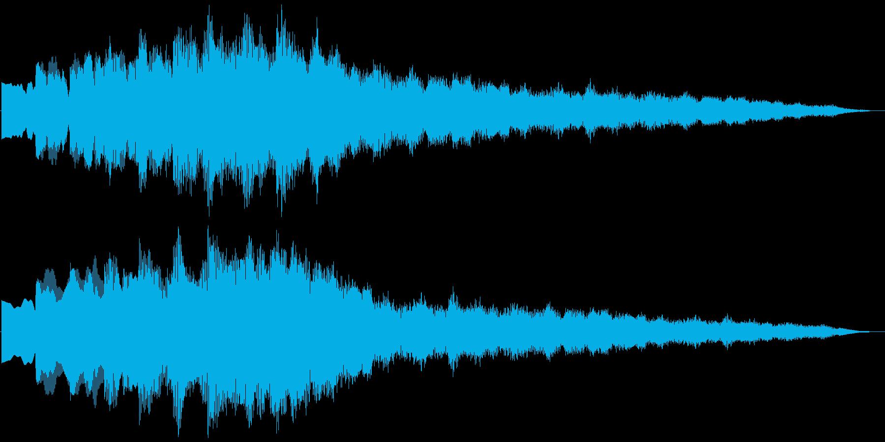 キラキラリーン上昇(ウィンドチャイム風)の再生済みの波形