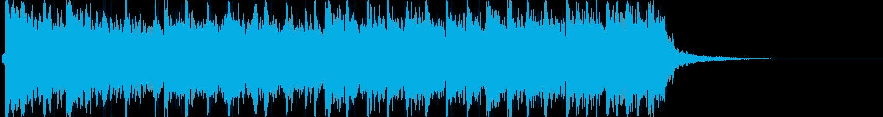 エレキギター、ドラムを使いpop系の曲調の再生済みの波形