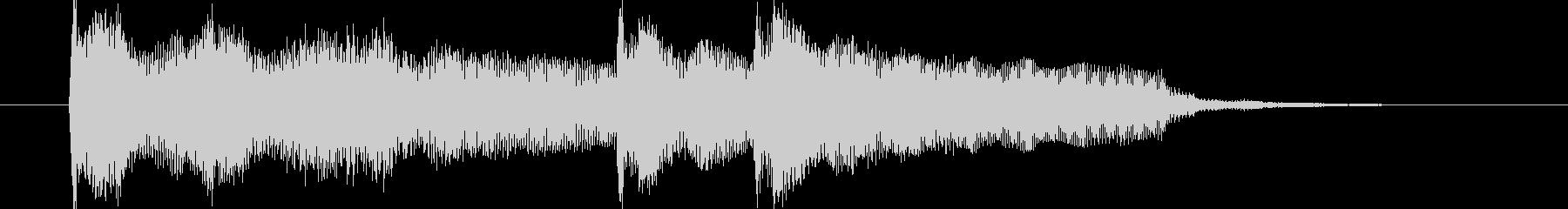 ピアノ・ボサノバっぽいジングルの未再生の波形