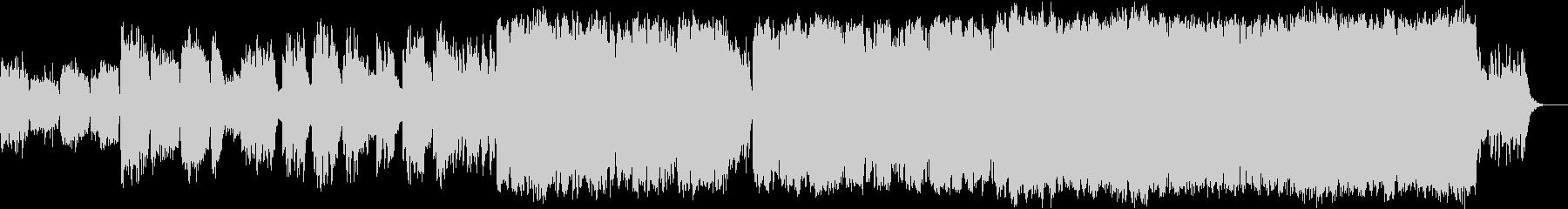 冬の定番ジングルベルアレンジ版の未再生の波形