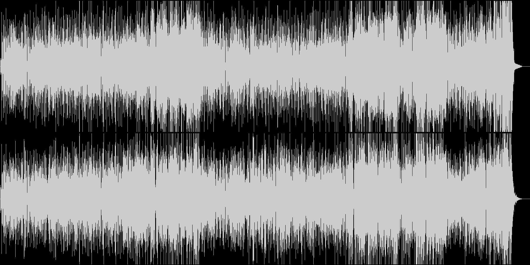 陽気でキャッチーなフュージョンサウンドの未再生の波形