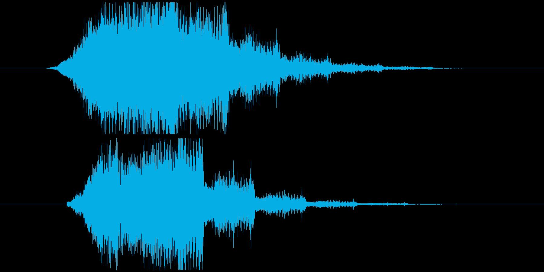 ジャーンジャーンというサウンドロゴの再生済みの波形