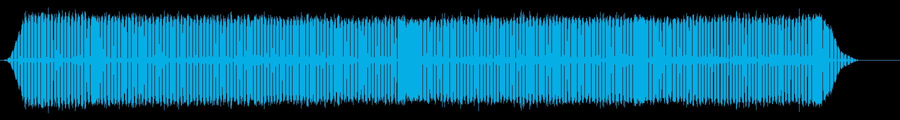 灰色のセミの再生済みの波形