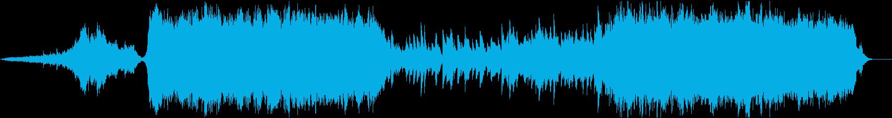 発展途上のオーケストラを背景に、チェロとの再生済みの波形