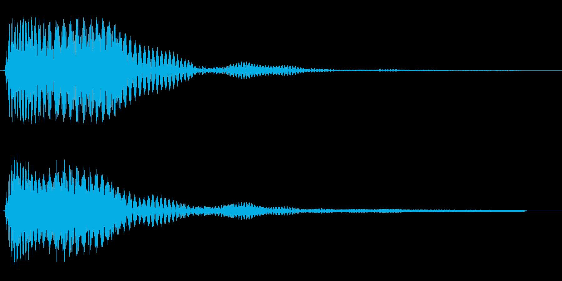 ピュ↓イ〜↑ン(下がって上がるシンセ音)の再生済みの波形