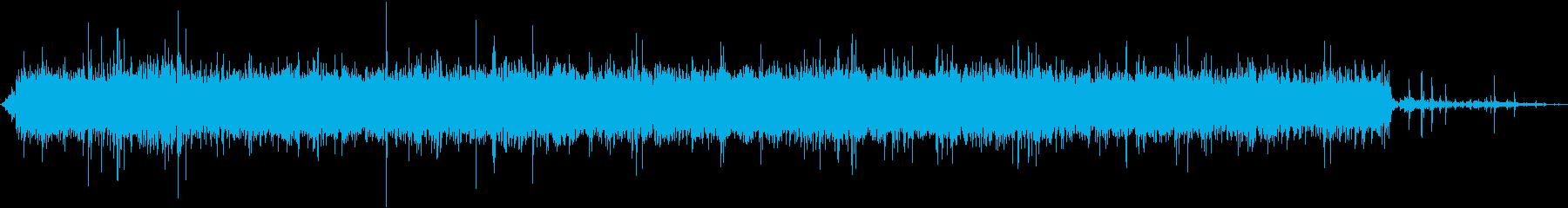 レジデンシャルシャワー:開始、実行...の再生済みの波形