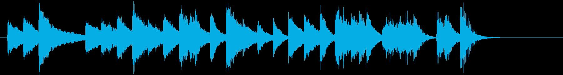 「乾杯の歌」モチーフのピアノジングルBの再生済みの波形