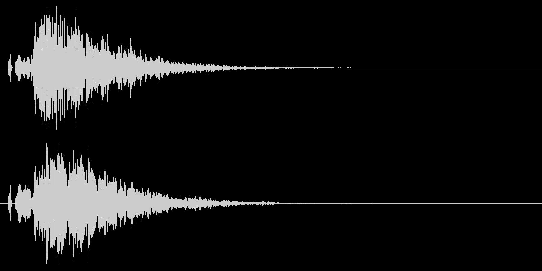 ピロン!決定/ボタン/クリック効果音!7の未再生の波形