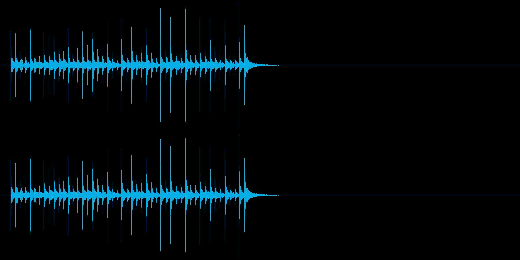 ランニングドラム、音楽、パーカッシ...の再生済みの波形