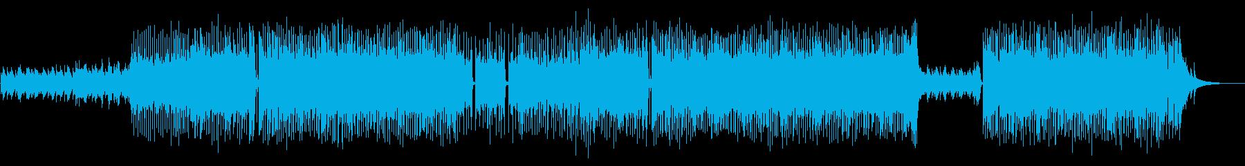 爽やかで軽快なポップスBGMの再生済みの波形