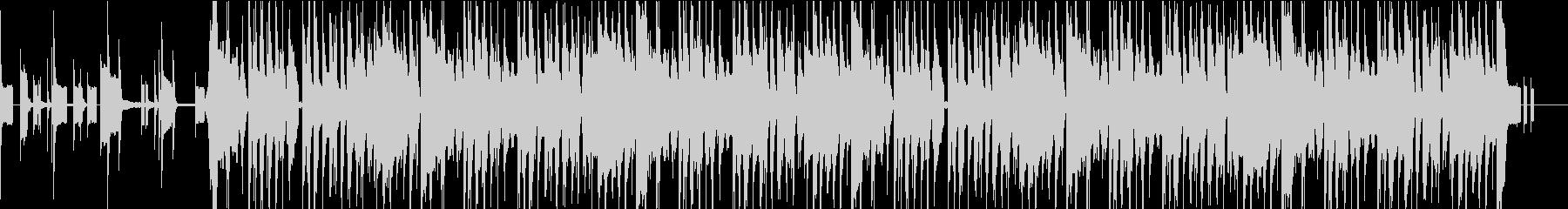 コミカルな楽し気なBGMの未再生の波形