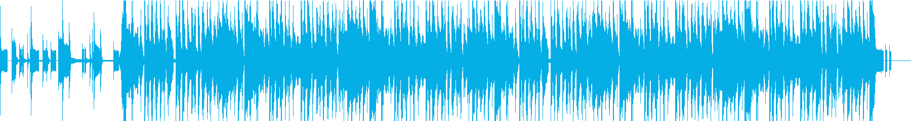 コミカルな楽し気なBGMの再生済みの波形