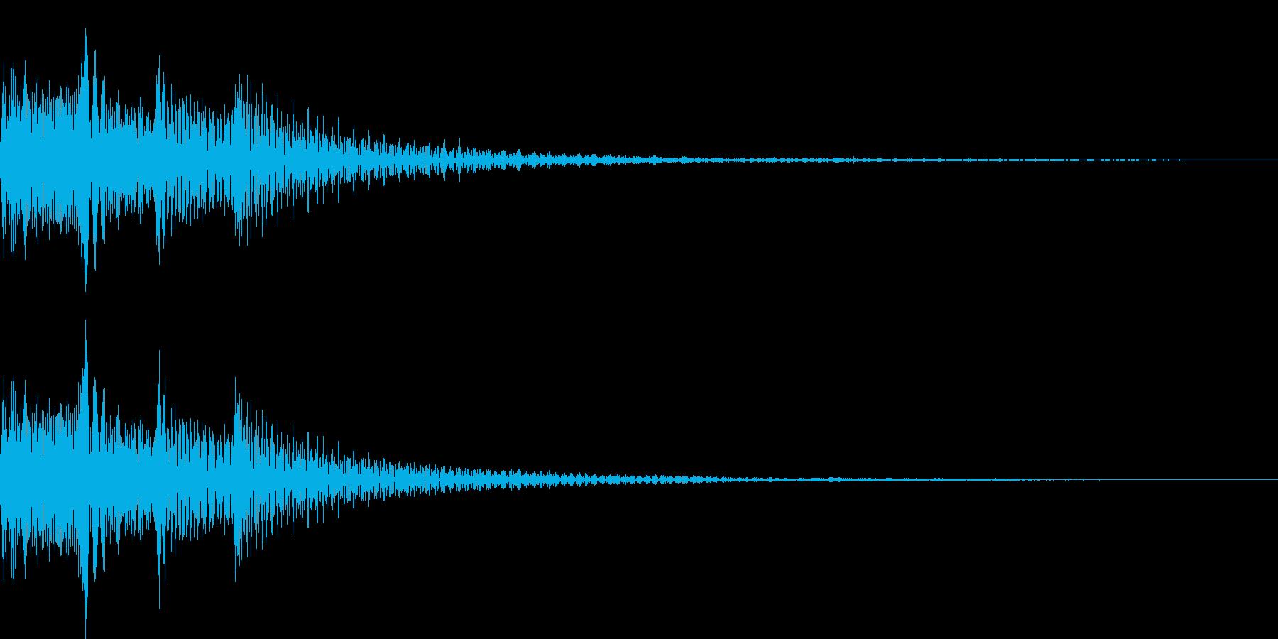 ポロロロン(スワイプ 決定 移動)の再生済みの波形