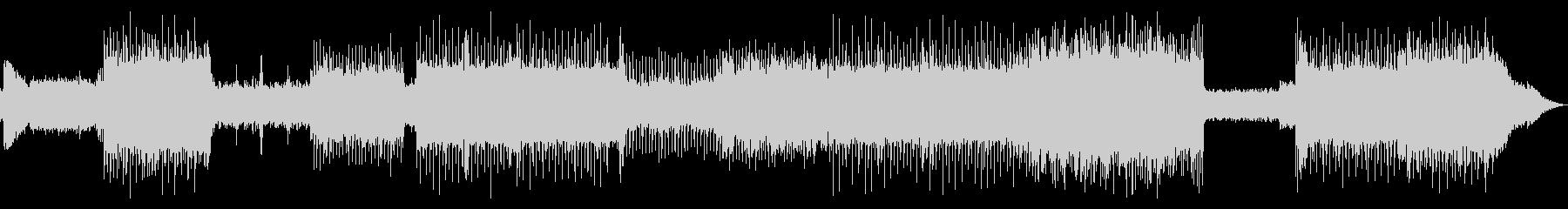 激しいギターロックサウンドの未再生の波形