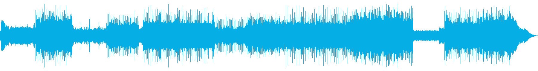 激しいギターロックサウンドの再生済みの波形