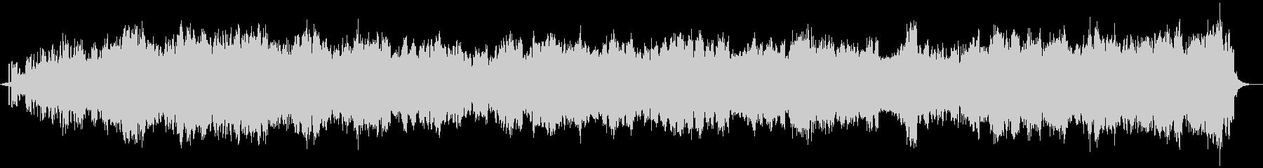 煌びやか癒しアンビエント楽曲-自然音入りの未再生の波形