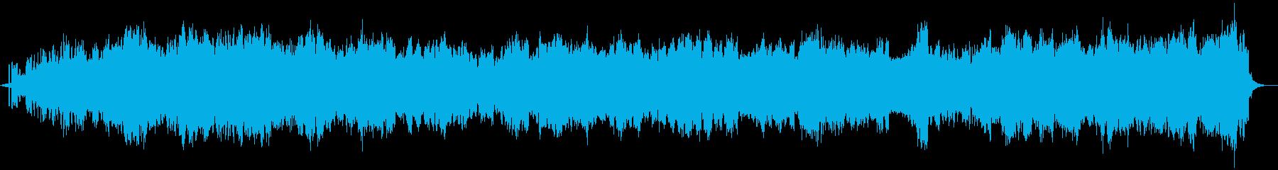 煌びやか癒しアンビエント楽曲-自然音入りの再生済みの波形
