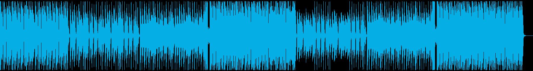 キラキラのポップスの再生済みの波形
