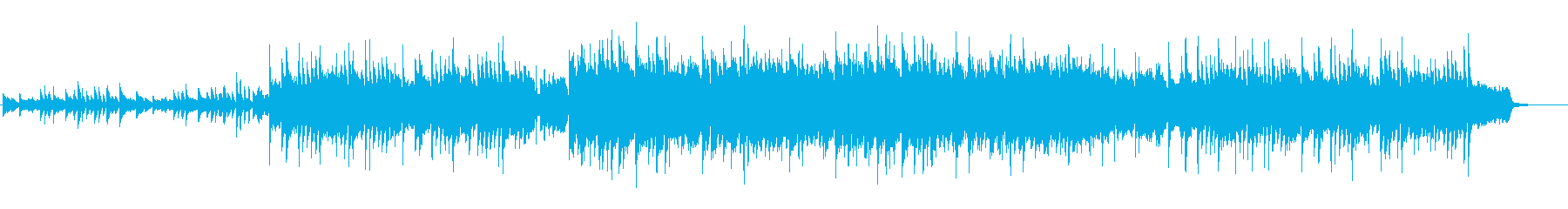 お洒落で清らか、澄んだピアノ主体のBGMの再生済みの波形