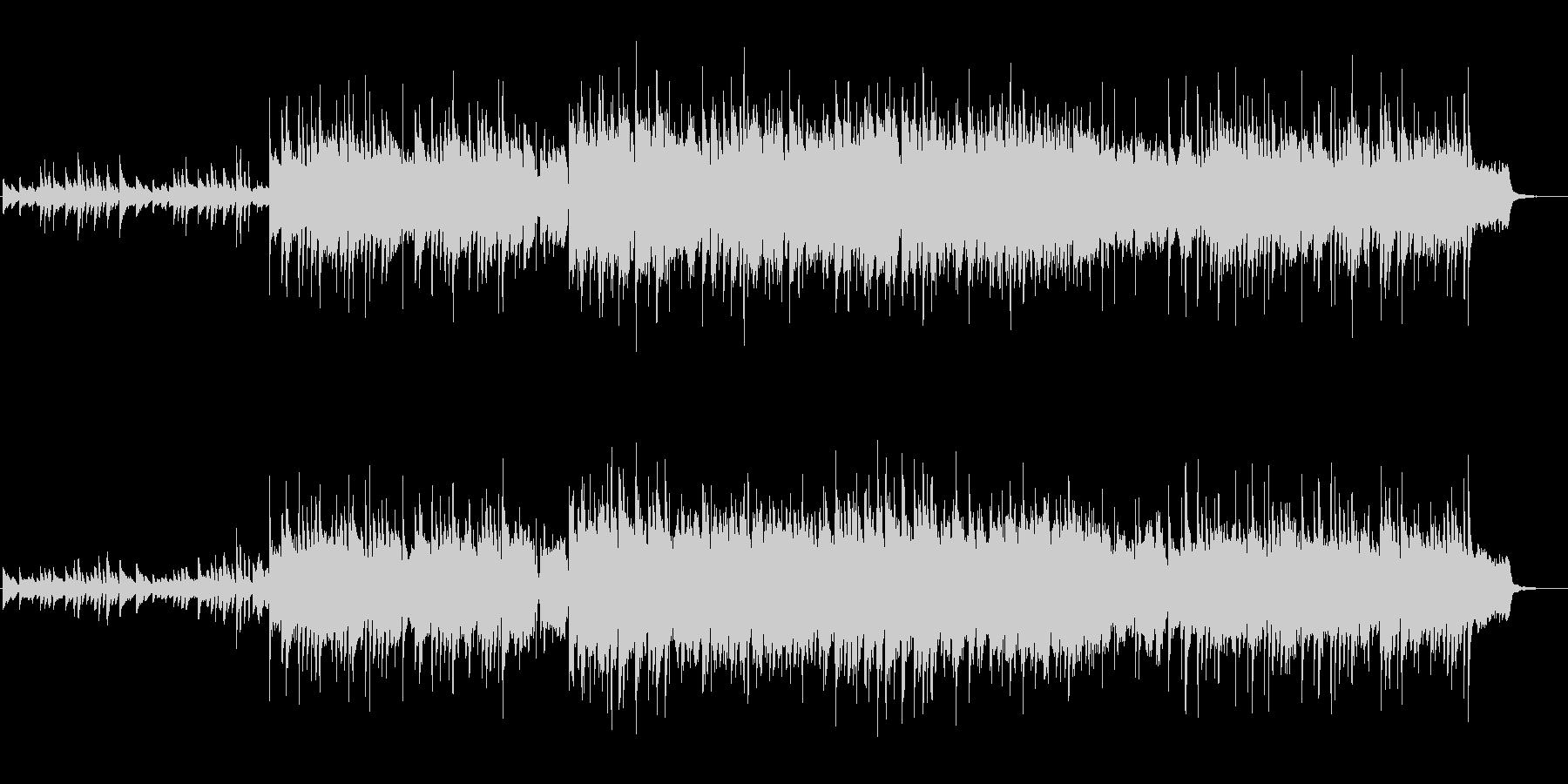お洒落で清らか、澄んだピアノ主体のBGMの未再生の波形