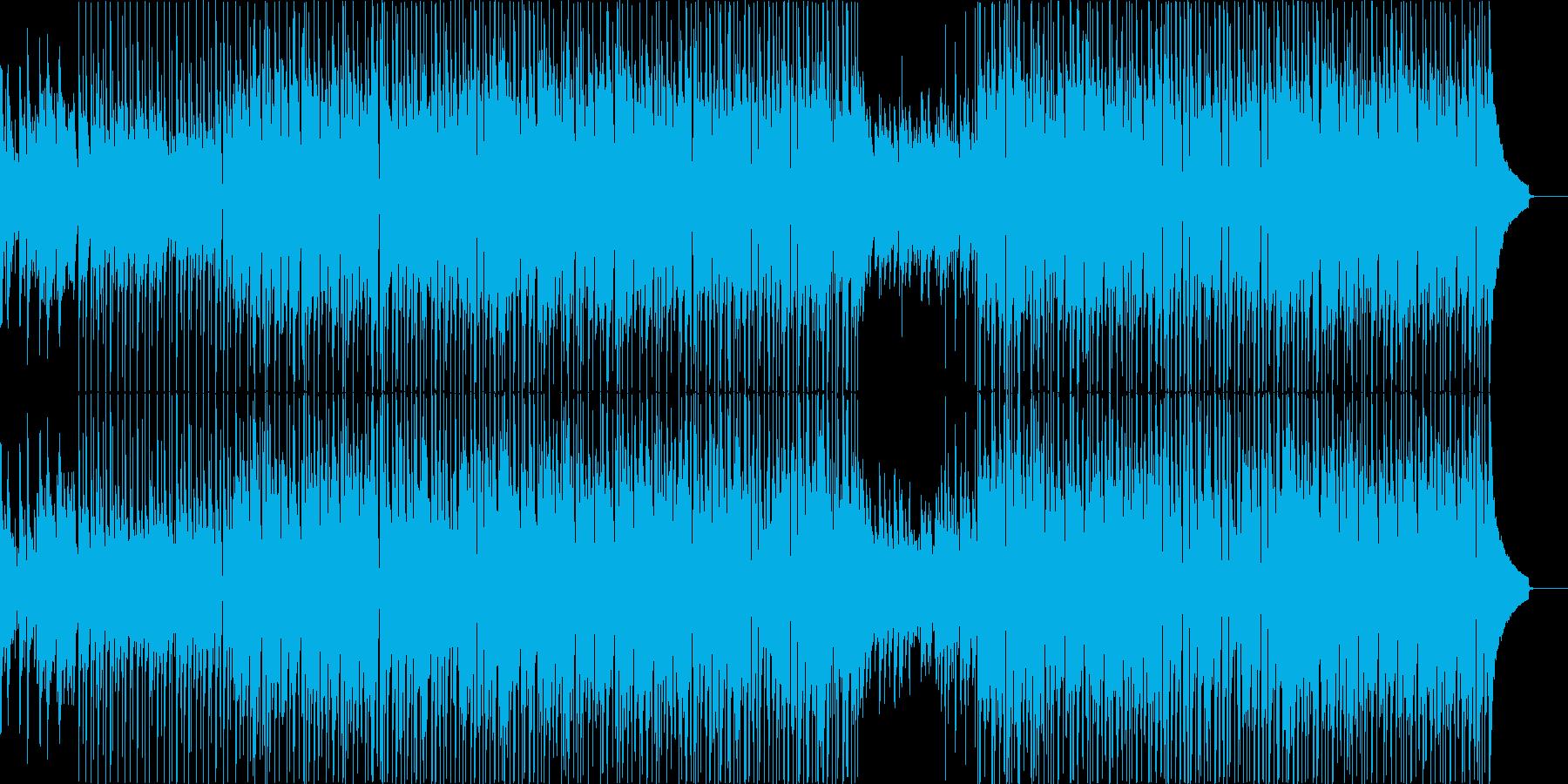 ポジティブで爽やかなピアノバンドの再生済みの波形