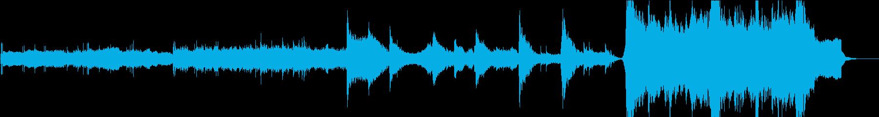荒廃的で壮大な雰囲気のトレーラー音楽の再生済みの波形