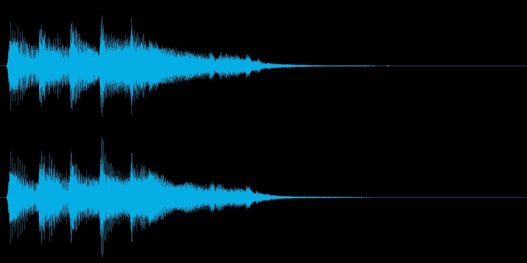 ゲームクリア 達成 成功 正解 8bitの再生済みの波形