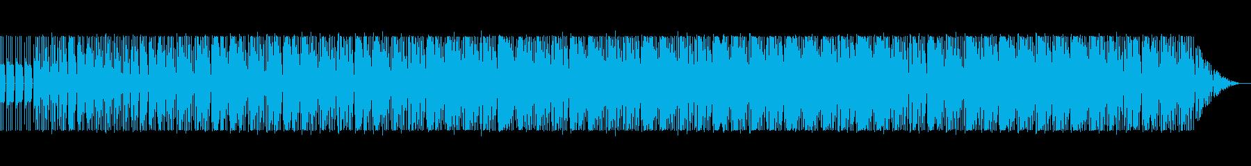 妖艶で怪しげなテクノの再生済みの波形