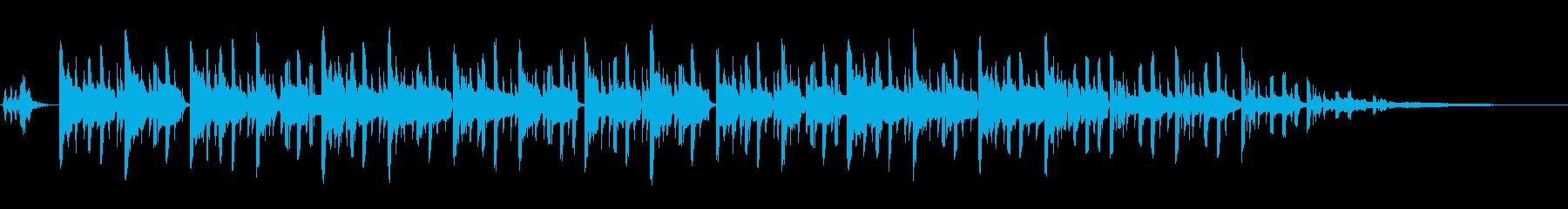 和風モダンなBGMの再生済みの波形