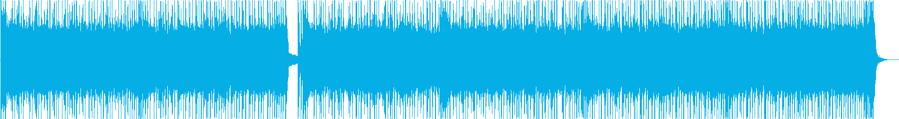 ギターとベースの疾走感あるロックな曲の再生済みの波形